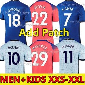2019 2020 2021 Chelsea CFC KANTE ABRAHAM MONTAGE LAMPARD ODOI JORGINHO PULISIC Fußball trikot GIROUD WILLAN Fußballtrikot 19 20 21 Männer + Kinder Trikot Vierter Pokal 4th