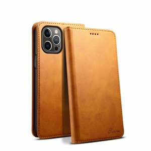 Magnetic Slim Flip Leather Wallet Case Suteni for iPhone 12 Mini 11 Pro Max XR XS 6s 8 Plus Samsung Note20 Ultra Note10