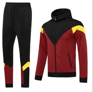 Custom classic style Hooded tracksuit jacket Maillot De Foot Survetement full Zipper Hooded tracksuit s-xl 0054