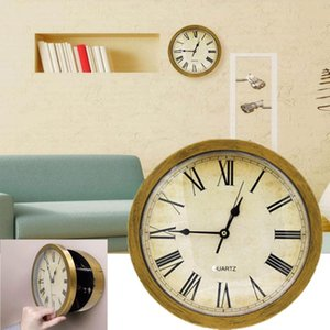 2 In 1 Hidden Secret House Storage Wall Clock Home Decroation Office Security Safe Money Stash Stuff Container Clock