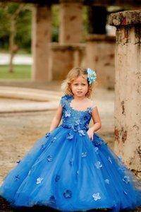 Flower Girls' Dresses Tulles Princess Ball Gowns for Wedding Party Little Kids Puffy Tulle Skirt Sleeveless Dancing