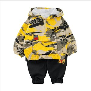 Spring Infant Clothes Sets Baby Girls Boys Suits Camouflage Color Cotton Hooded T Shirt+Pants Casual Children Kids Suits