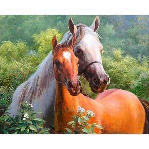 Gatyztory лошади рамка краска по номерам для взрослых для взрослых детей Handpainted масло живопись животных холст рисунок DIY подарочный декор