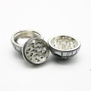 Death star grinders 55mm pollen catcher herb grinder 3 Layer PokeBall Tobacco Grinder Round Smoking Grinders VS Sharpstone Grinder DWF5352