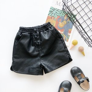 XG Lovely New INS Kids Girls PU Shorts Autumn Leather Shorts Fashions Girls Children Girls Shorts