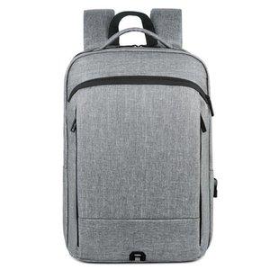الرجال الفاخرة حقيبة الأعمال التجارية للماء ومقاومة للخدش شحن USB الفاخرة الذكور الرياضية bagpack لمدة 15.6 بوصة أجهزة الكمبيوتر المحمولة