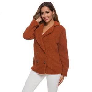 Autumn and winter cashmere thickened sweater lamb wool coat women's new topA6KH
