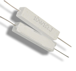 Freeshipping 10W1RJ ceramic cement resistors cement resistance 10W1 lead 10 watts 1 ohm load resistor 5PCS LOT