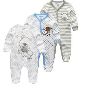KiddieZoom 2/3 / 4pcs / set Baby Shirts Sets Ropa recién nacida Boys Romper Summer Roupa Infantil Trajes de vestir 210309