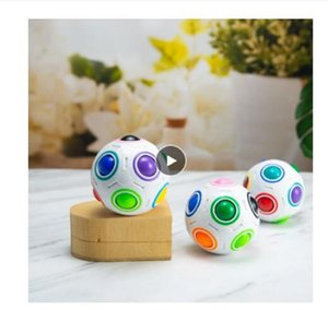 Antistress Cube Rainbow Ball Puzzles Football Magic Cube Educational Learning Toys for Children Adult Kids Stress Reliever Toys
