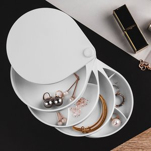 360 Degree Rotating Jewelry 4 Layers Drawer Organizer Holder for Necklace Bracelet Ring Earring Small Items Container Case