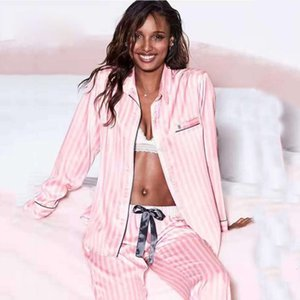 2 Pieces Set Pijamas Women Satin Silk Pyjamas Summer Pajamas Sleepwear Lounge Wear Sleep Pjs Loungewear Night Suit Home Clothes 200919