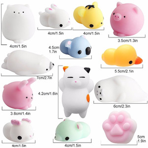 NEW Fidget PVC Animal Extrusion Vent Toys Squishy Rebound Squishy Funny Gadget Vent Decompression Toy Mobile Pendant Cute Funny Gift