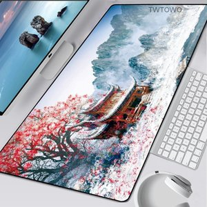 XXL Great Wave Off Mouse Pad Art Large Overlock Edge Mat Rubber Speed PC Computer Gaming Mousepad Waterproof Desk Keyboard Mat Y0308