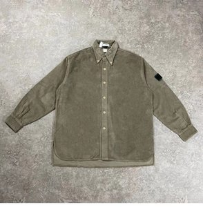 Designer Men's Casual Shirts Vintage corduroy khaki blue red color shirt jacket Warm outdoor coat for women and men