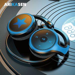멋진 모습 A23 블루투스 헤드폰 MP3 플레이어 FM 라디오 10H 블루투스 이어폰 편안한 블루투스 헤드셋 무선 헤드폰