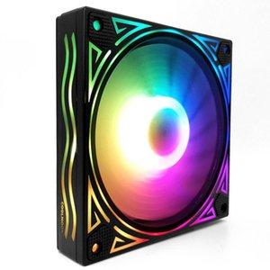12cm Color Changing PC Case Heatsink Fast Silent CPU Control Box RGB Cooling Fan Hydraulic Bearing 12V 6Pin Desktop Computer