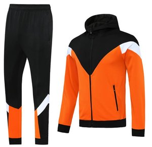 Custom classic style Hooded tracksuit jacket Maillot De Foot Survetement full Zipper Hooded tracksuit s-xl 0051