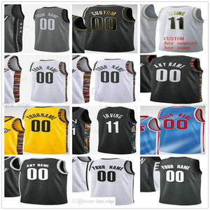 Custom Printed 11 Kyrie 7 Kevin Irving Durant 13 Harden Joe 12 Harris Brooklyn Blake 2 Griffin Nets Man Women Kids Basketball Jerseys