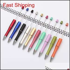 Diy Beadable Pen Creative Personalized Writing Gift Diy Ball Ballpoint Pens Wedding Gift For Guests Business Advertising Pen 10 Color Phu93