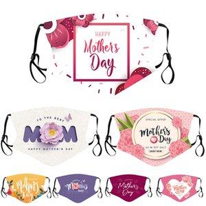 Designer Männer Frauen Gesichtsmaske Erwachsene Paar Glückliche Mutter Tag Party Masken Staubdicht Gedruckt Mama Einstellbare Mund Gesichtsmaske