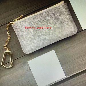 M62650 Ключ Пакет Pochette CLES Мода Женщины Мужчины Ключ Кольцо Кредитные карты Держатель Монеты Кошелек Мини Кошелек Сумка Charm Mono Brown Canvas N62658
