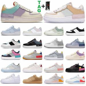 2021 Zapatillas de correr planas de plataforma baja para hombres, mujeres, Shadow Utility Triple White Twist Pale Ivory Spruce Aura Zapatillas de deporte para hombre al aire libre