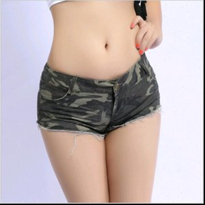 2021 new fashion summer brand ladies girls Low waist sexy disco dance camouflage patterns Fatigues woman tight shorts clothing