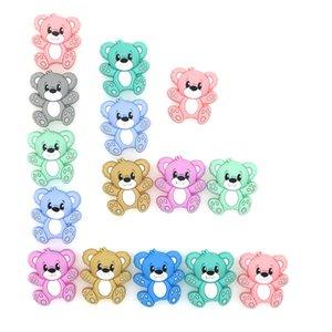 Kovikt 50/100/200/500 Mini Bär Silikonperlen Baby Dummy Cartoon Schnuller Spielzeug Zubehör 210311