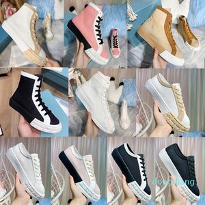 Designer-High Top Falt Sneakers Shoes Women Fabric Low-cut Trainers White Black Lace-up Outdoor Cacusl Shoes