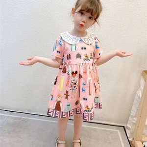 girls' sve 2021 short summer drs new with Lapel for childrenAAA1 DD80D088