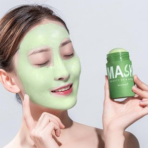 Зеленый чай очищение твердой маски маски контроль над маслом глубоко очищающая красота кожа зеленый чай увлажняющий увлажняющий уход