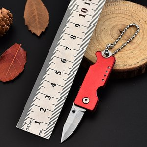 Wholesale KeyChain Folding Knife MINI Portable Stainless Steel Outdoor Knife Pocket Small Knife Utility EDC Tool Multi-function