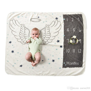 4 Styles Printed Baby Milestone Blanket Eco-friendly 70X102cm Flannel Blankets Travel Home Air Conditioning Blanket DH0743 T03
