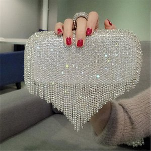 Rhinestone Wedding Purse Women's Evening Clutch Bag Luxury Design Women Handbag Small Silver Chain Shoulder Bag ZD1806