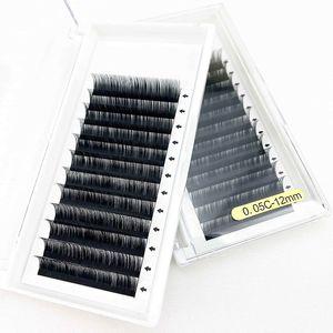 YMS 2021 perfect eyelash extension supplies wholesale 8-15mm siberian individual mink eyelash pre made loose volume fans eyelash extensions