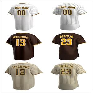 Benutzerdefinierte Manny Machado Jersey Yu Darvish Tatis Jr. Tony Gwynn Chris Paddack Wil Myers Mike Clevinger Baseball-Trikots