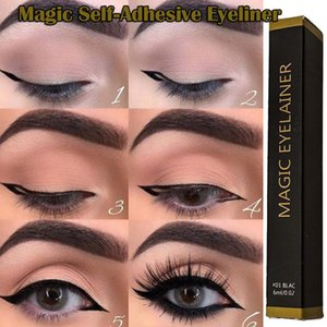 QualityMagic Lashes Self-Adhesive Eyeliner Pen Glue-Free Magnetic-Free for False Eyelashes Waterproof Quick Dry Black Eye Liner Pencil
