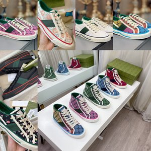 51%Off Popular 1977 Designer Shoes Sale For Man Women Canvas Sneaker The Grid Green Red Stripe White Casual Trendy Platform Sneakers Newest