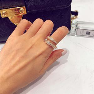 Korean Style Micro Inlaid Zircon Snake Женская открытая мода роскошный полный алмазный индекс