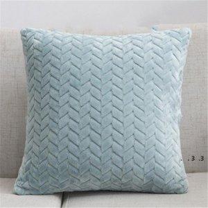 Wurfkissenbezüge texturiert Gestrickter Kurzwolle Samt Plüsch Kissenbezug Kissenbezüge für Sofa Couch Schlafzimmer FWF4983
