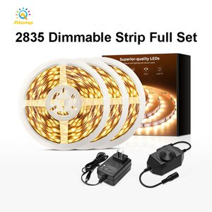 Strip Light 2835SMD Single Color Warm White Non waterproof 32.8ft 65.6ft LED Strip Light with Dimmable controller and Adapter