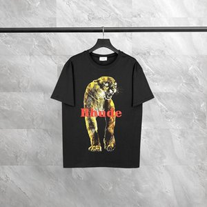 T-shirt vintage rhude tiger print tiger mens t shirt lavato T-shirt all'ingrosso T-shirt personalizzata Plus Size uomo donna streetwear maniche corte in cotone hommie di alta qualità