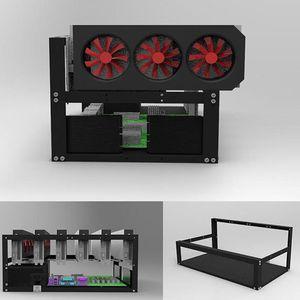 Staal Open Lucht Mijnwerker Frame Rig Case Tot 6 Gpu Voor Crypto Munt Mijnbouw Digitale Valuta virtuele