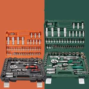 Tool Organizers Professional Tools Box Sleeve Ratchet Wrench Set Combination Rotary Car Repair Kit Ferramentas Garage Storage