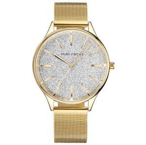 Klasik Saatler Kadın Moda Grace Kuvars Saat Bayanlar Basit Örgü Kayış Tasarım Flash Saatler Relogio Feminino