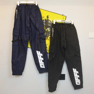 Pantalon de cargaison blanc de style Blanc Femmes Mans Ow des concepteurs Imprimer des flèches Lettre Casual Vêtements Pantalons Vêtements de sport Hop Hop Hop