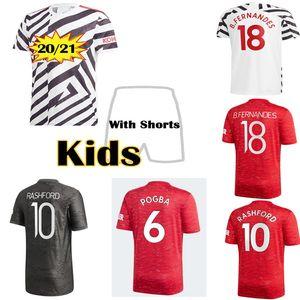 Top Quality 2021 Manchester Futebol Jerseys Cavani Fernandes United Rashford Utd Camisa de Futebol 20 21 Quarto Adulto + Children's Humanrace