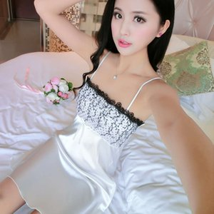 pajamas women's summer suspender nightdress Sexy underwear extremely tempting fun silk home furnishing clothing Korean version