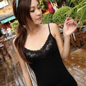 Summer new Korean women's wear versatile Korean lace suspender vest T-shirt